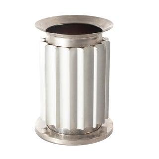 1950s Aluminum and Chrome Italian Industrial Lamp For Sale