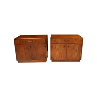 Mid Century Founders Milo Baughman Style Nightstands Tables For Sale