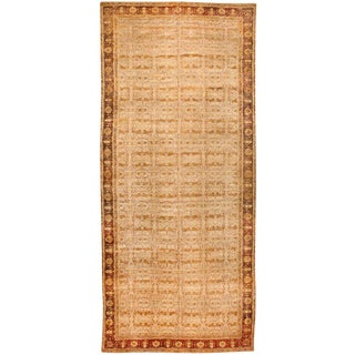 Exceptional Antique Oversize Mid 19th Century Indian Agra Carpet For Sale