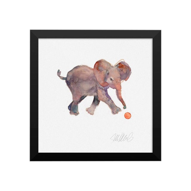 Steve Klinkel Framed Elephant Watercolor Print - Image 1 of 2