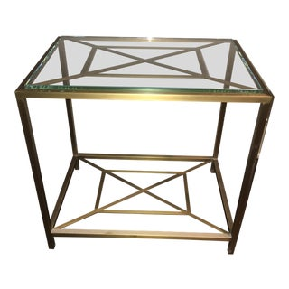 Hollywood Regency Thomas Pheasant Baker Bronze Side Table For Sale