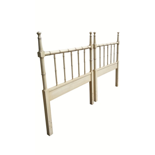 Faux Bamboo Twin Headboards - Pair - Image 2 of 4
