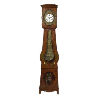 French Provincial Morbier Tall Case Clock, Vignaud Bonnet, 19th Century For Sale
