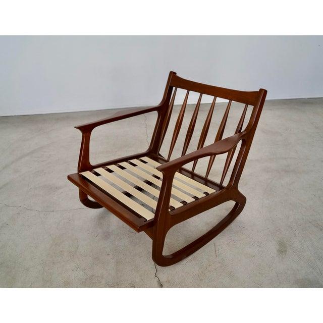 Danish Modern Ib Kofod Larsen Rocking Chair For Sale - Image 12 of 13