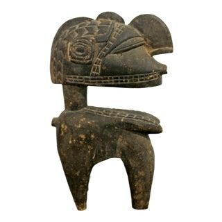 Vintage African Primitive Senufo Ivory Coast Carved Wood Figurine Sculpture For Sale
