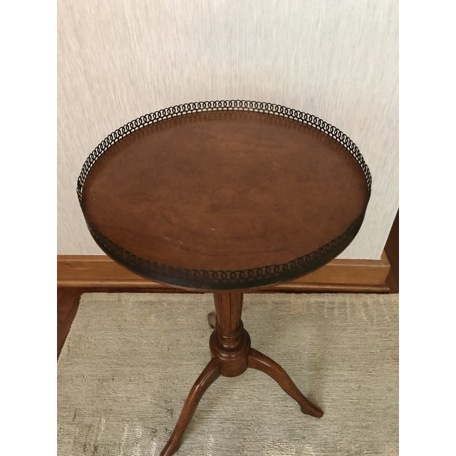 Traditional Wood Drink/Gueridon Tables - a Pair For Sale In Washington DC - Image 6 of 8