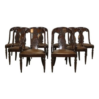 Set of 8 Carved Dining Chairs