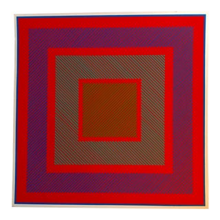 Richard Anuszkiewicz Op Art Signed For Sale