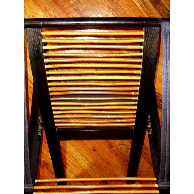 Brown David Colwell Trannon C1 Reclining Lounge Chair and Ottoman Rattan For Sale - Image 8 of 10