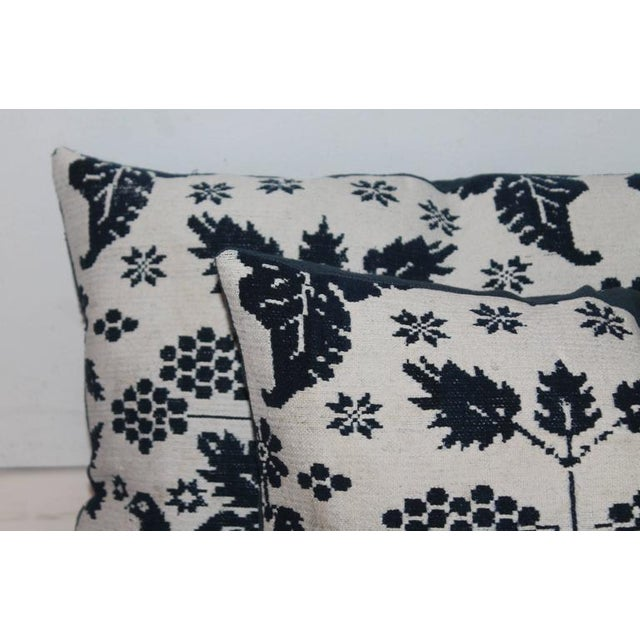 Pair of 19th Century Lancaster Co. Coverlet Pillows - Image 4 of 7