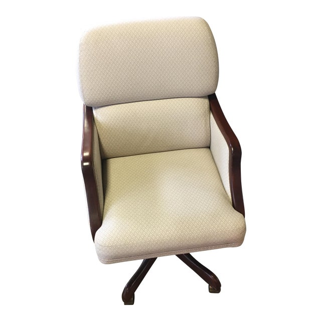 White Rolling Office Chair - Image 1 of 8