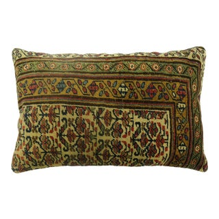 Large Antique Rug Pillow For Sale
