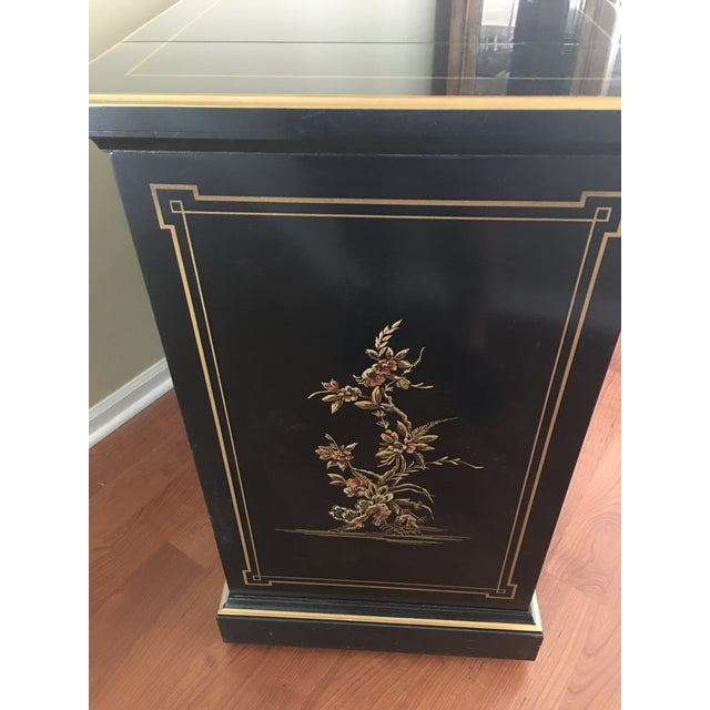 Drexel Heritage Drexel Heritage Chinoiserie Black Lacquer Buffet Server For Sale - Image 4 of 5
