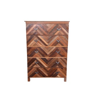 Contemporary Juno Wooden Five Drawer Chest