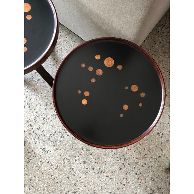 1960s Pair of Dunbar Constellation Tables For Sale - Image 5 of 8