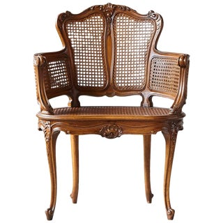 Early 20th Century Rococo Style Caned Armchair With Elaborated Carvings For Sale