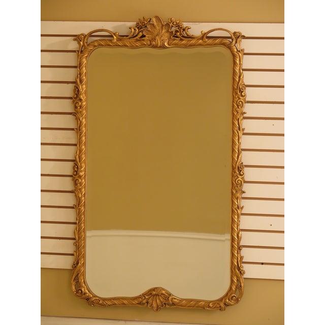 Friedman Brothers Gold Framed Beveled Glass Mirror For Sale - Image 10 of 10