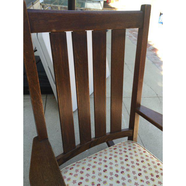 1930s 1930s Vintage Mission Style Rocking Chair For Sale - Image 5 of 10
