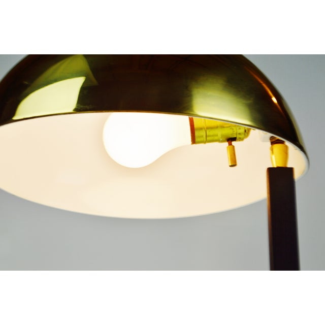Mid Century Brass Dome Shade Desk Lamp For Sale In Philadelphia - Image 6 of 13
