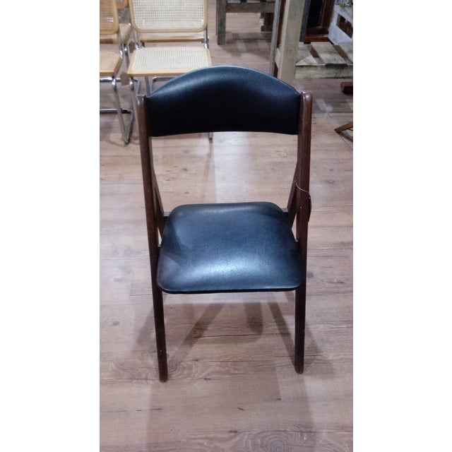 Mid-Century Modern 1960s Mid-Century Modern Stakmore Folding Chairs - Set of 4 For Sale - Image 3 of 6