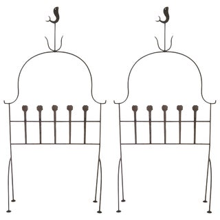 Pair of 1960s Iron Headboards For Sale
