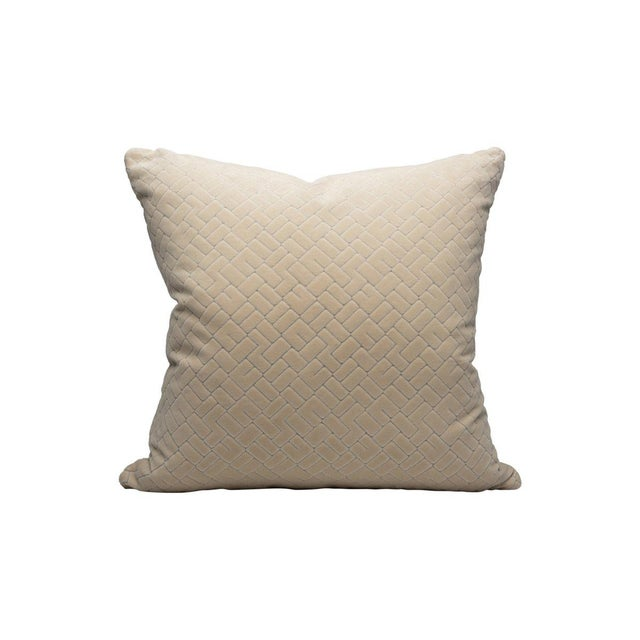 Transitional Scalamandre Vallaurius Velvet Pillow, Orgreat For Sale - Image 3 of 3