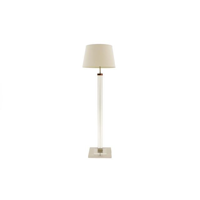 Metal Lucite / Acrylic Floor Lamp by Charles Hollis Jones, 1970s For Sale - Image 7 of 7