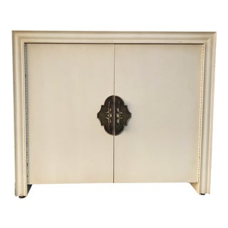 1950s Vintage Custom Ecru and Gold Cabinet For Sale
