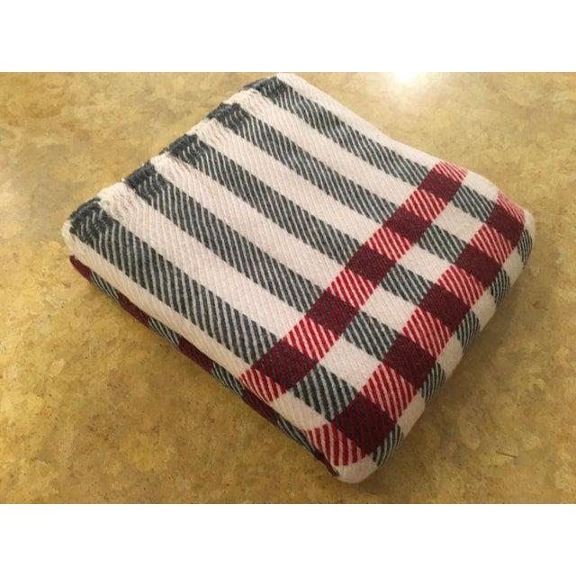 Black & Red Plaid Cashmere Blanket - Image 2 of 8
