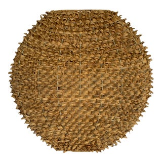 Palm Leaf Wicker Accessory For Sale