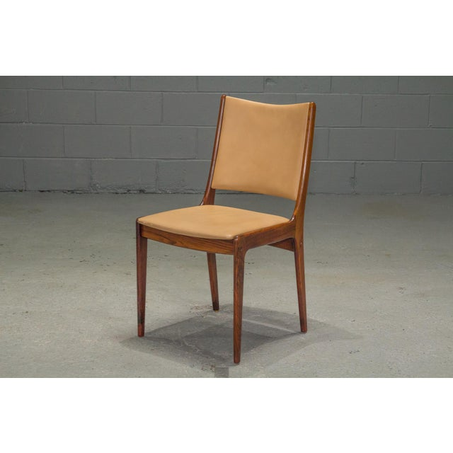 1960s 1960s Vintage Danish Modern Rosewood & Leather Dining Chairs- Set of 4 For Sale - Image 5 of 13