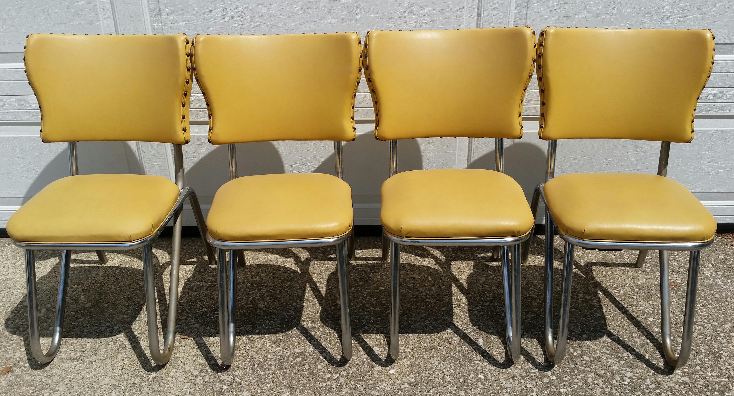 Vintage Midcentury Retro Yellow Dining Set   Image 7 Of 11