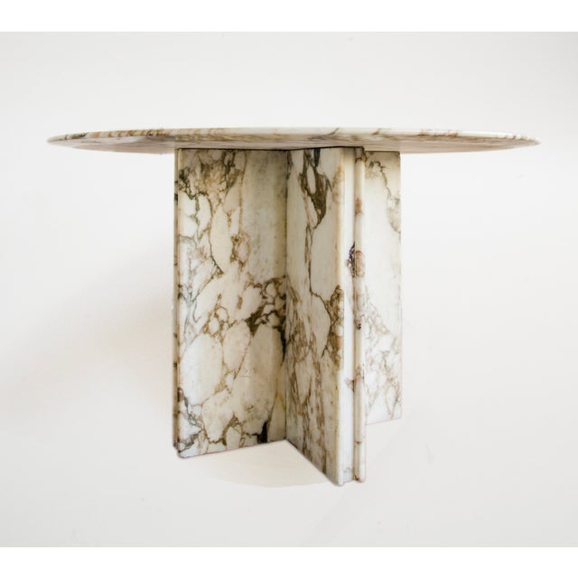 Made to order solid Italian marble dining table. Custom fabricated with great care and precision. As pictured, the table...