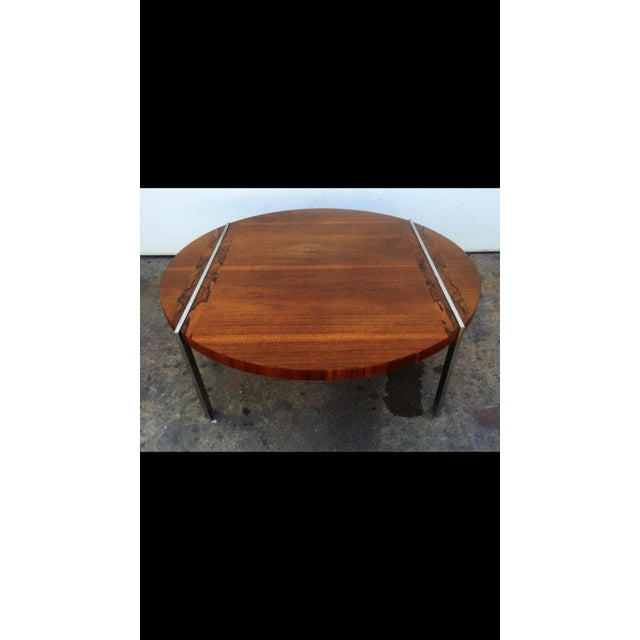 Mid-Century Modern Lane Wood & Chrome Coffee Table For Sale - Image 3 of 6