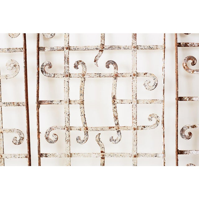 Set of Three Greek Architectural Iron Window Grills For Sale - Image 4 of 13