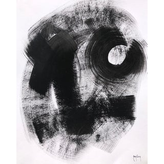 Black & White Abstract Painting by Tony Curry For Sale