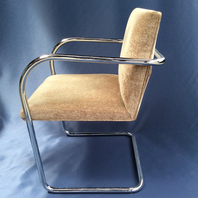 Fabric covered tubular arm chair. Was reupholstered a while back the chair has minimal use and was bought and styled for a...