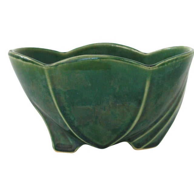 McCoy Green Pottery Vase - Image 1 of 10