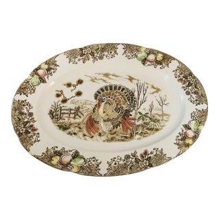 Vintage Turkey Transferware Platter For Sale