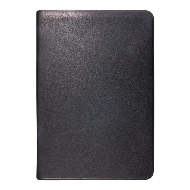 Small Flexible Cover Journal, Calfskin Book in Black For Sale