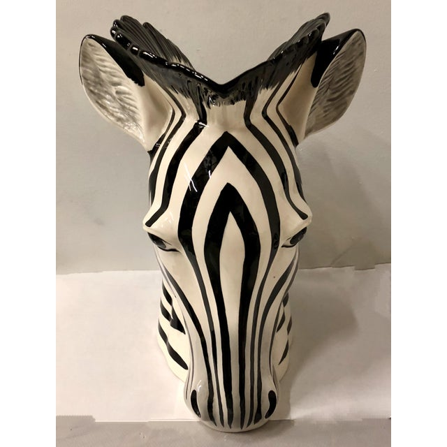 Pair Of Fitz Floyd Zebra Vases Chairish