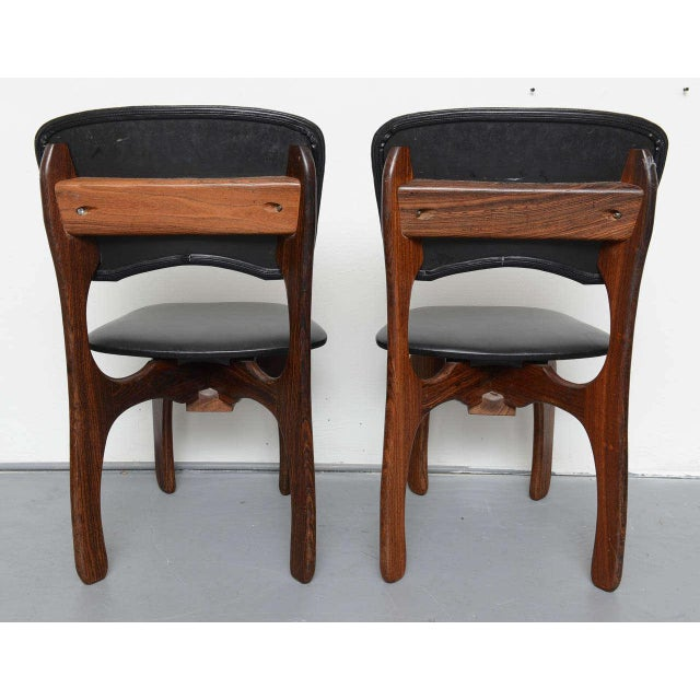 1970s 1970s Rosewood Chairs by Don Shoemaker, Mexico For Sale - Image 5 of 9