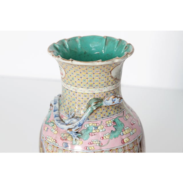 Ceramic 19th Century Pair of Chinese Vases For Sale - Image 7 of 11