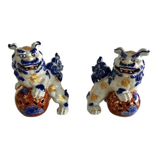 Japanese Foo Dog Figurines - a Pair For Sale