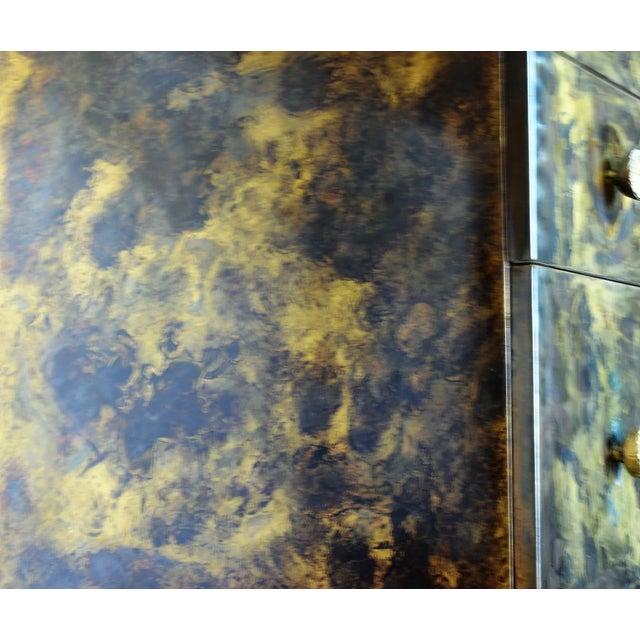 2000 - 2009 Timeless Mid Century Modern Studio Brass Desk For Sale - Image 5 of 13