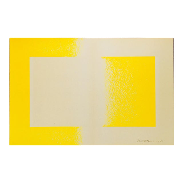 1971 Vintage Richard Anuszkiewicz 'Yellow Reversed' Lithograph Print For Sale