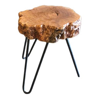 Lychee Tripod Side Table For Sale