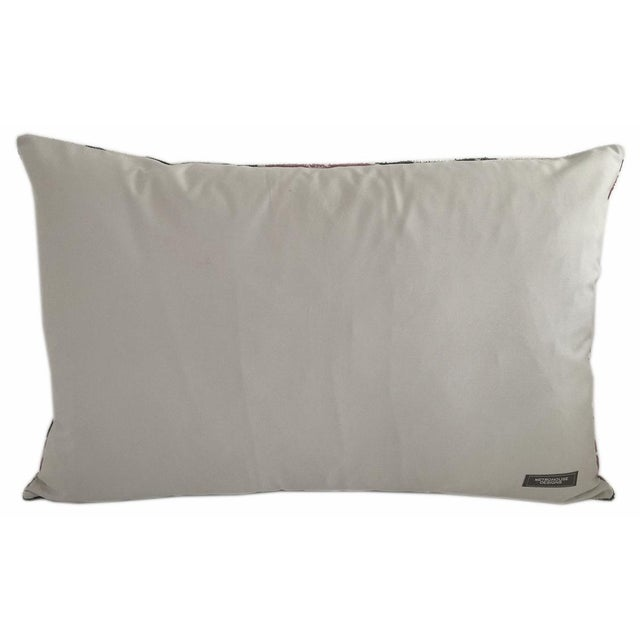 Custom made Silk Atlas pillow with a solid 100% Cotton back. Pillow has a zipper for closure. A down feather insert is...