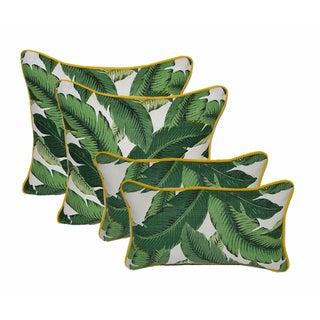 Green Swaying Palms Pillows - Set of 4