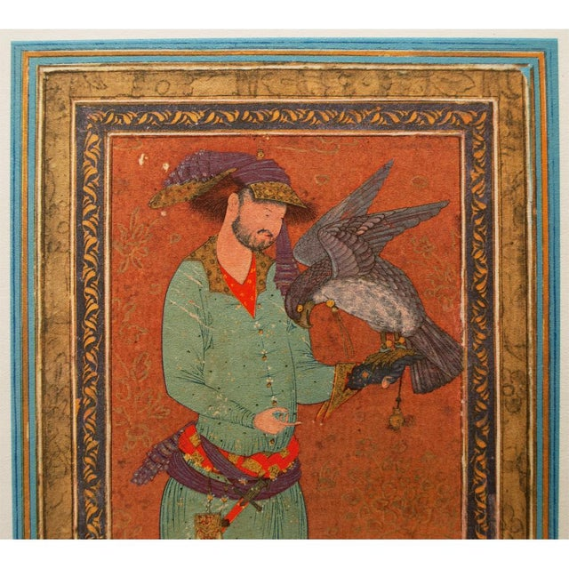 Asian 1940s Persian Original the Falconer Lithograph For Sale - Image 3 of 9